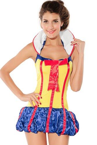Dear lover pour femmes-neige, tu créeras des jolies fées Princess Costume Jaune Taille (Femme Kostüm Les Pour)