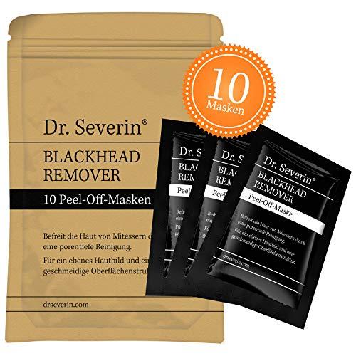 BLACK MASK: Dr. Severin® Blackhead Remover Peel-Off Maske. Aktivkohle Gesichtsmaske, gegen unreine Haut, schwarze Maske, Mitesser-Killer, porentiefe Reinigung, natürliche Inhaltsstoffe, Original