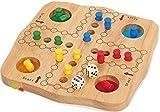 Mentari Ludo aus Holz Gesellschaftspiel für 2-4 Spieler