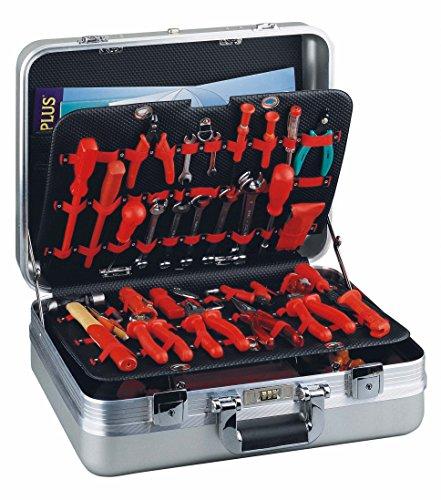 gt-line R7/Top–Werkzeugkoffer mit der Tasche Gummizug in Aluminium eloxiert (Innenraum 474x 355x 178mm)