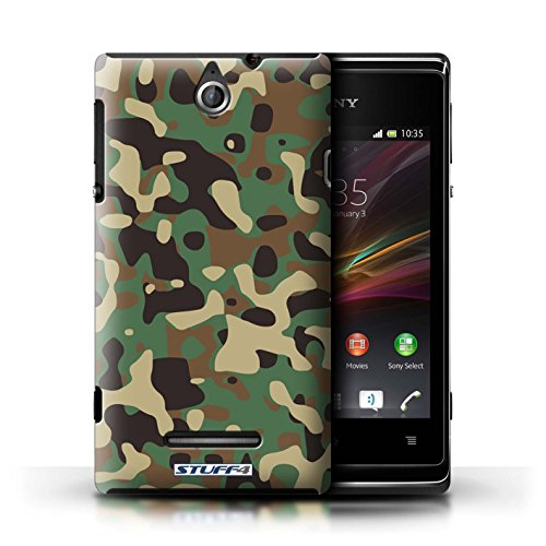 Kobalt® Imprimé Etui / Coque pour Sony Xperia E / Vert 1 conception / Série Armée/Camouflage Vert 3