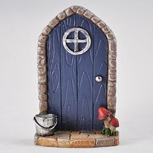 Miniatur Marineblau gewölbte Fairy Tür–Baum Garten Home Decor–Fun Quirky Elf, Pixie, Hobbit Geschenk (Ears Elven)