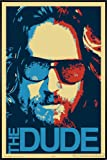 Close Up The Big Lebowski Poster The Dude (93x62 cm) gerahmt in: Rahmen schwarz