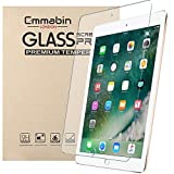 """Emmabin New Apple iPad 9.7"""" (2018/2017) GLASS Edition Genuine Tempered Glass Screen Protector Guard Cover for Apple iPad Air (iPad 5)/iPad Air 2 (iPad 6)/iPad Pro - Apple Pencil Compatible6)/iPad Pro"""
