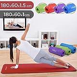 Gymnastikball - Physionics Pilates Yoga und Gymnastikmatte 180 x 60 x 1.5 cm Red, FNMT02-1.5
