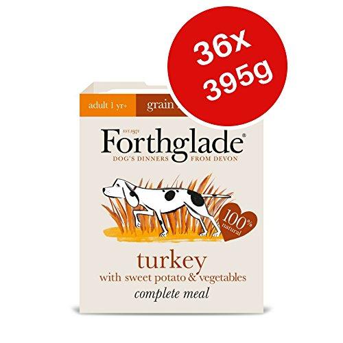 forthglade Hundefutter Welpenfutter Komplette Mahlzeit Erwachsene Nassfutter Hund–Türkei 395g (36Stück)