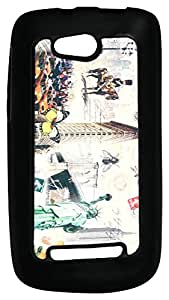 Mobile Back Cover ZT12978 Multicolor 3D Rubberised Soft Mobile Back Case for Micromax Bolt A065