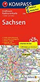 Sachsen: Großraum-Radtourenkarte 1:125000, GPX-Daten zum Download (KOMPASS-Großraum-Radtourenkarte, Band 3708)