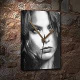 SEASONS ORNELLA MUTI - Canvas Clock (A5 - Signed by the Artist) #js006
