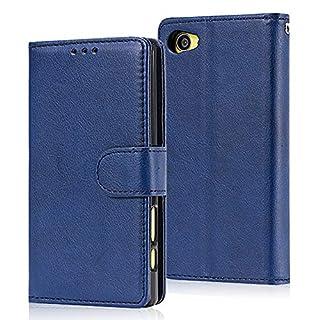 Sony Xperia Z5 Mini Hülle,WIWJ Premium Tasche Cover Handyhülle[2 in 1 Ledertasche]Brieftasche Flip Case Lederhülle Schutzhülle Handyhüllen Kompatibel mit Sony Xperia Z5 Mini-Blau