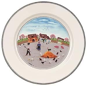 villeroy boch 10 2337 2644 assiette dessert porcelaine gris 22 x 23 x 7 cm 1 assiette. Black Bedroom Furniture Sets. Home Design Ideas