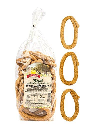 Taralli Multicereali Pugliesi con olio extra vergine d'oliva 3 pacchi da 300 g.