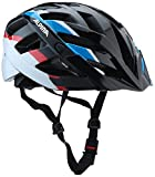ALPINA Erwachsene Panoma Fahrradhelm, Black-Blue-red, 52-57
