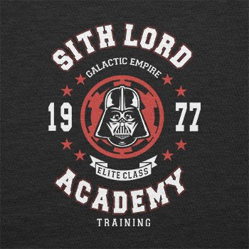 TEXLAB - Sith Lord Academy - Herren Langarm T-Shirt Schwarz