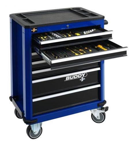 Werkzeugwagen Buddy, blau, leer, ELORA-1210-LBOT, 1210000026000