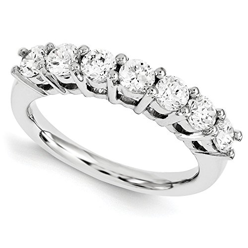 14 ct White Gold Diamant Band Ring