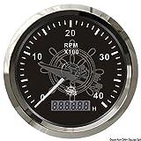 Osculati 27.326.02 - Contagiri 0-4000 RPM nero/lucida