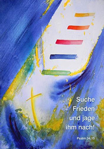 Jahreslosung 2019, XL-Poster DIN A1, »Suche Frieden und jage ihm nach«