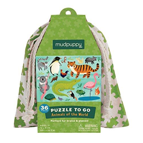 MudPuppy Puzzle di andare : Animali delle mondo
