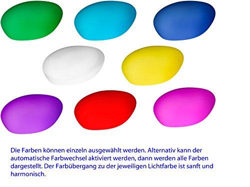 Bonetti led solar gartenleuchte stein 8 farben optionaler farbwechsel 30 cm ip67 rgb - Wandbeleuchtung solar ...