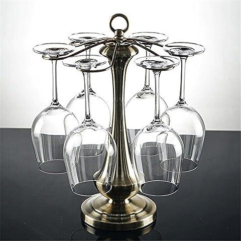 Mode Porte-gobelet Vin de suspension en verre Verre à vin rouge, hauteur 39.5cm × Diameter27cm, contient pas de verre de vin