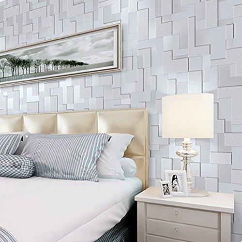 3d wallpaper modernen minimalistischen Mosaik Vliestapete Schlafzimmer dreidimensionale Wohnzimmer TV Hintergrund Wand Papier Kaufen Sie drei Get One Free ( Style : WP52002 )