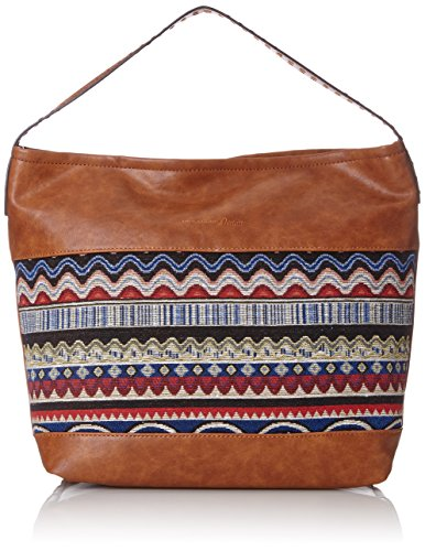 Tom Tailor Denim Damen Camille Schultertasche, Braun (Cognac), 12x33x42 cm (Denim Hobo)