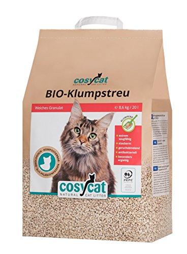 CosyCat Bio Katzenstreu klumpend 20 l, natürlich aus Holz !Versandkostenfrei!