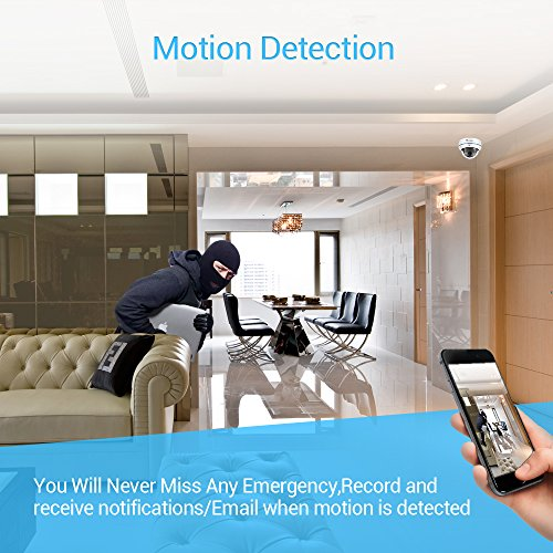 【720P】Ctronics Überwachungskameras Dome Kamera IP WIFI Wireless Kamera 720p - 5