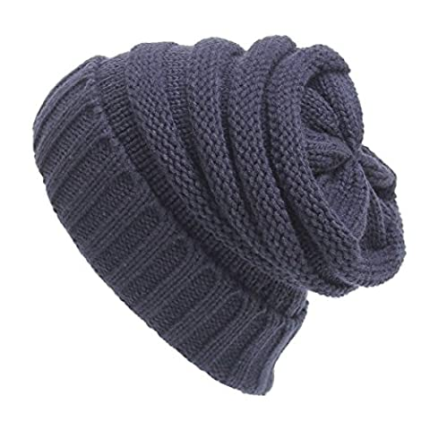 Knitting Wool Warm Hat - iParaAiluRy Unisex Luxurious Fashionable Soft Slouchy Cap Beanie Hat in Winter and Spring