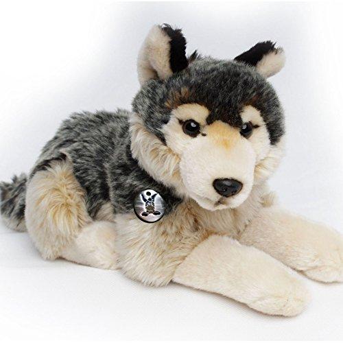 Wolf KALINKA liegend 41 cm Plüschtier von Kuscheltiere.biz