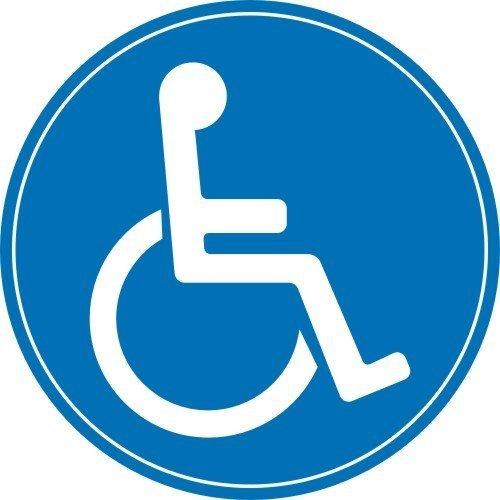 easydruck24de 1 Rollstuhl-Aufkleber innenklebend I Ø 10 cm I kfz_076 I Sticker Behinderten-Symbol Behinderung schwerbehindert Behinderten-Transport Rollstuhl-Fahrer