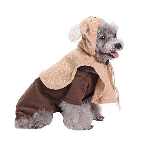 aaa226Cute Elf Pet Dog vierbeinigen Fell Ohren Kapuzen Kostüm Cosplay (Kostüm Vierbeinigen Halloween)