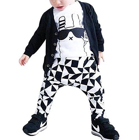 VENMO Baby Junge Lange Ärmel Graffiti Drucken T-Shirt + Hosen Outfit Kleider Set (Größe: 12M)