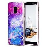 CaseLover Galaxy A8 2018 Hülle, TPU Weiche Silikon Handyhülle Dünne Bunte Natur Marmor Muster Gehäuse Schutzhülle Cover für Samsung Galaxy A5 2018 5,6