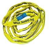 Braun 30031RS - Correa transportadora (poliéster, resistencia: 3000 kg, 3 m), color amarillo