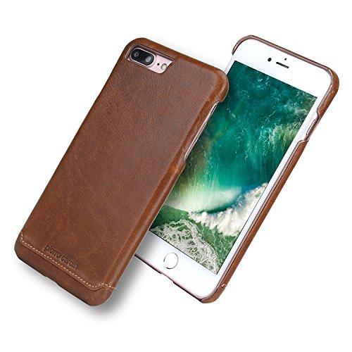 iPhone 7 Plus Hülle Case, Pierre Cardin Premium Luxuriöser italienischer echtem Rindsleder Rückseitige Hartgehäuseabdeckung / Handyschutzhülle für Apple iPhone 7 Plus 5,5 Zoll, (Pierre Cardin Kostüme)