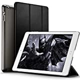 ESR Slim-Fit iPad Smart Cover Case for Apple iPad 2 iPad 3 iPad 4 (2014 Version with Built-in Stand and Front/Back Protection and Built-In Magnet for Sleep/Wake Feature), Black