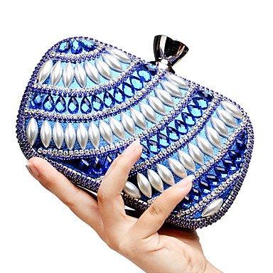 pwne L. In West Frauen ' S Das Elegante Luxushotel Handgefertigten Perle Diamanten Abend Tasche Blue