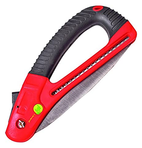 Folding Pruning Saw, Lightweight, D-Saw is Sharp, Easy to Use, Small, Weak Hands, Foldable Locking Safety Latch, By The Gardener