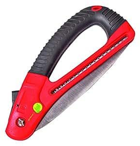 Sega pieghevole per potatura, leggera e facile da usare, anche per mani piccole o deboli, chiusura di sicurezza, ideale come regalo