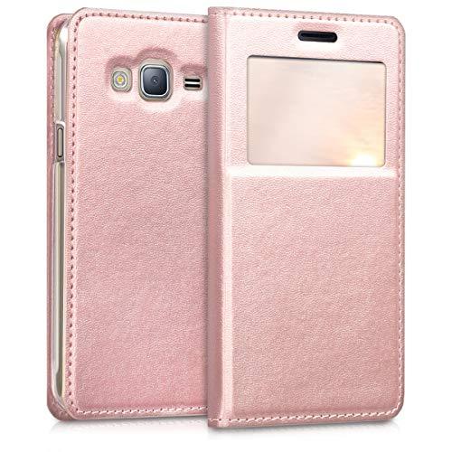 kwmobile Samsung Galaxy J3 (2016) DUOS Hülle - Handyhülle für Samsung Galaxy J3 (2016) DUOS - Handy Case Schutzhülle Klapphülle