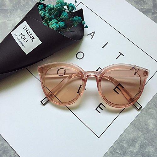 VVIIYJ Legende des blauen Meeres ,Sonnenbrille ,weibliche Sonnenbrille ,runde Brille ,Tee Pink (Baseball Tee Pink)