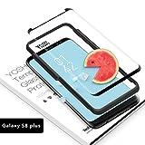 Verre Trempé Samsung Galaxy S8 Plus S8+ Protection YOSH Écran Protecteur Vitre Sensibilité Tactile Elevée - Sans Bulles D'air - Adhésion Parfaite Compatible Fonction 3D Touch Dureté 9H Ultra Mince 0.23 mm Haute Transparence #Garantie à Vie# Ultra Résistant [Lot de 1]
