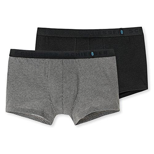 Schiesser Herren Boxershorts  95/5 Shorts, 2er Pack, Mehrfarbig (Sortiert 1 901), 2XL (Herstellergröße: 8) -