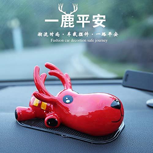 Den ganzen Weg, der Hirsch Auto Dekoration Auto Innendekoration Auto liefert personalisierte kreative niedlichen Auto, China rot [Hirsch] (Hirsche China)