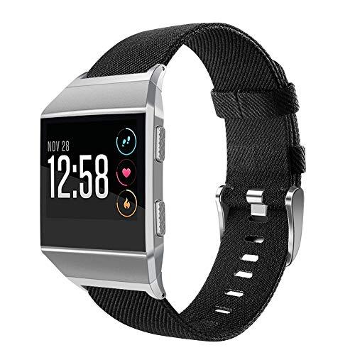 OenFoto Sport Armband Kompatibel Fitbit Ionic, Nylon Verstellbares Armband Ersatz Uhrenarmband Armband Zubehör Armband für Fitbit Ionic Smart Watch, Large Small