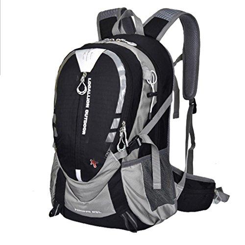 lethigho 25L Wasserdicht Wandern Reise Rucksack Radfahren Bergsteigen Daypack für Outdoor Sports Camping Pack Schultern Bag Klettern Rucksack Schwarz