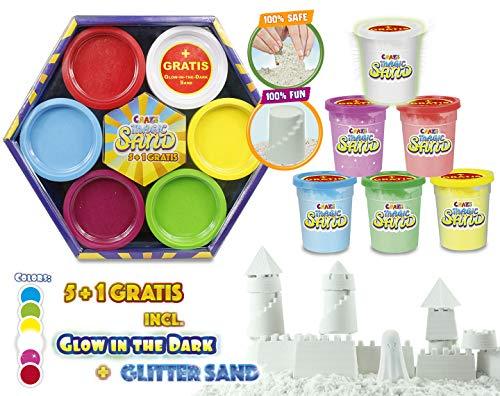 Craze 54148 - Magic Sand, 6-er Pack, 1080 g, bunt