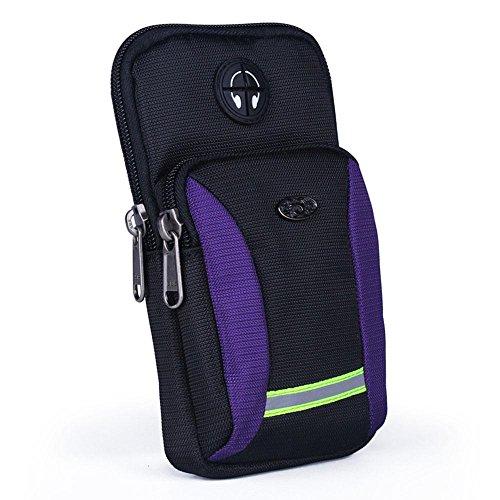 BUSL Wandern Hüfttaschen Herren-Outdoor-Sport-Handy-Paket Multifunktions-Arm-Tasche Schulter diagonal Paket Taschen laufen d